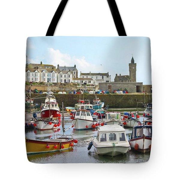 Porthleven Inner Harbour Tote Bag