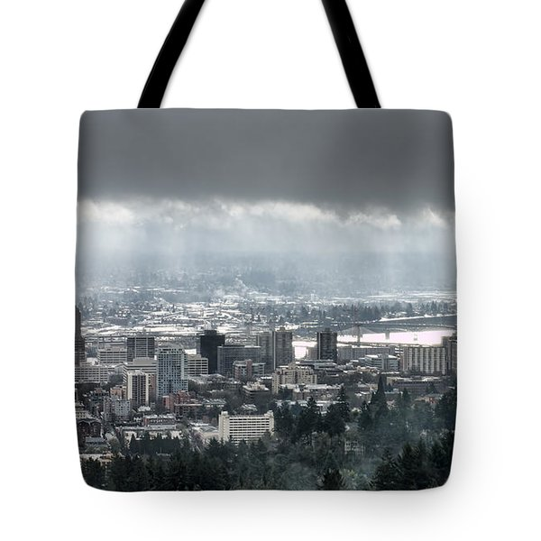 Portland After A Morning Rain Tote Bag