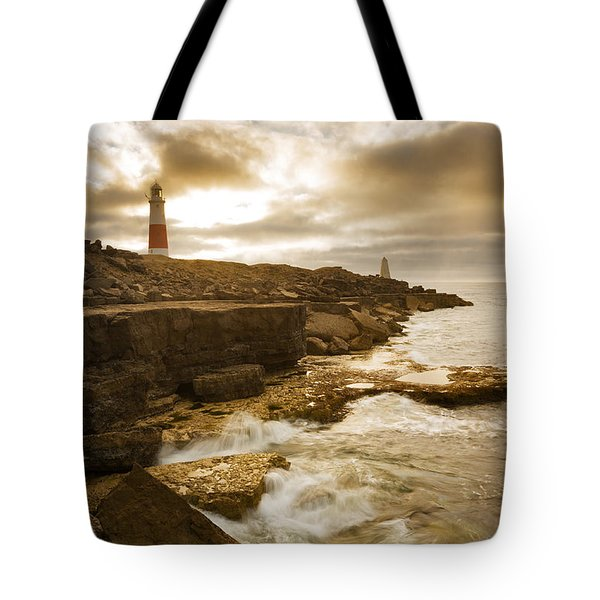 Tote Bag featuring the photograph Portland Bill Lighthouse by Ian Middleton