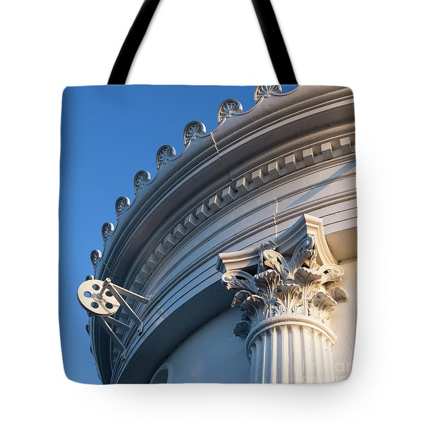 Tote Bag featuring the photograph Portland Breakwater Light  -58750 by John Bald