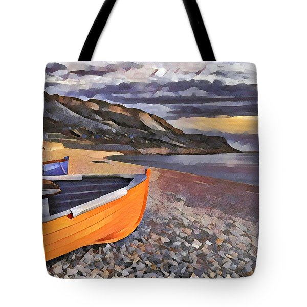 Portland Chesil Beach Tote Bag