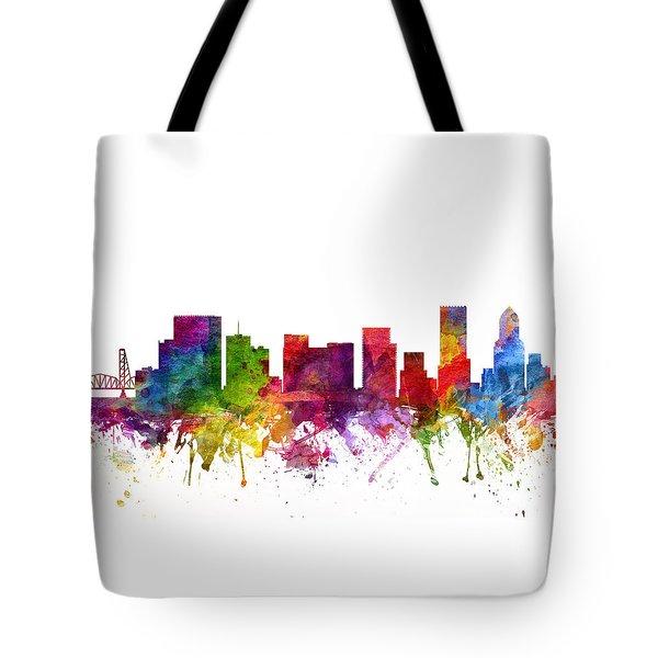 Portland Cityscape 06 Tote Bag