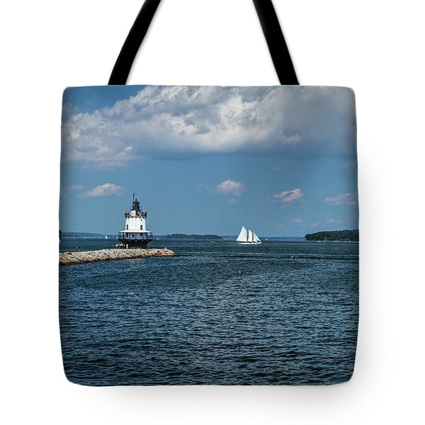 Portland Harbor, Maine Tote Bag