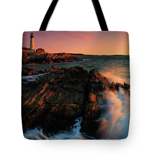 Tote Bag featuring the photograph Portland Head First Light  by Emmanuel Panagiotakis