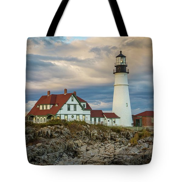 Portland Head Light 3 Tote Bag