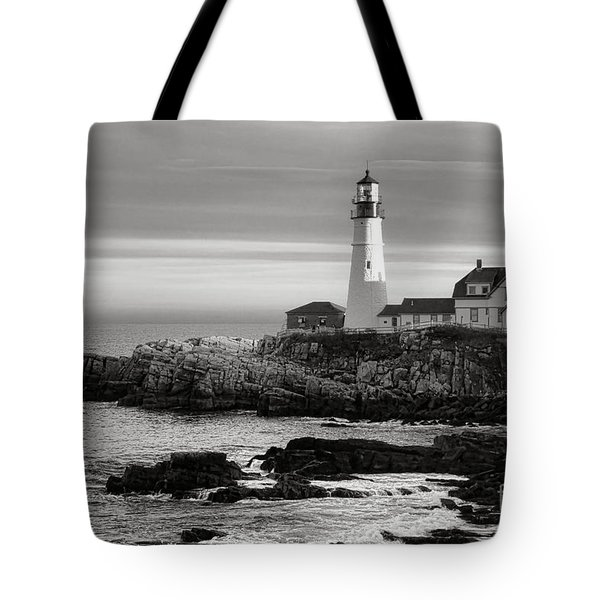 Portland Head Light On Casco Bay Tote Bag