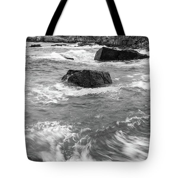 Tote Bag featuring the photograph Portland Head Light Under Heavy Skies  -88356 by John Bald