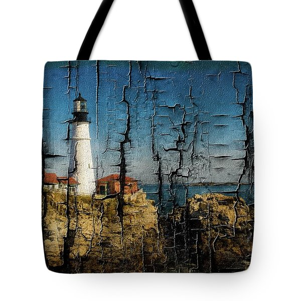 Portland Head Lighthouse 5 Tote Bag by Sherman Perry