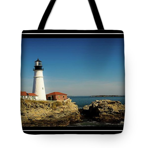 Portland Head Lighthouse 7 Tote Bag by Sherman Perry