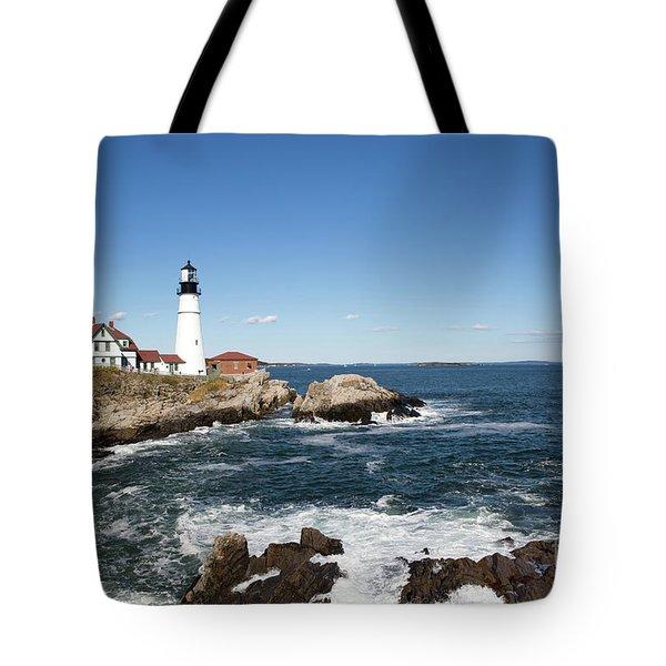 Portland Head Lighthouse Maine Tote Bag