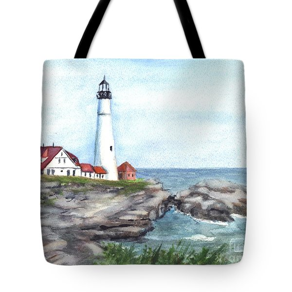 Portland Head Lighthouse Maine Usa Tote Bag