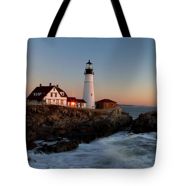 Portland Head Lighthouse Sunrise Tote Bag