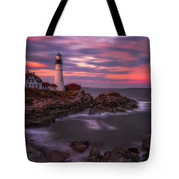 Portland Head Sunset Tote Bag