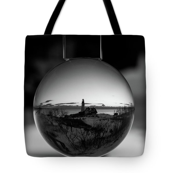 Portland Headlight Globe Tote Bag