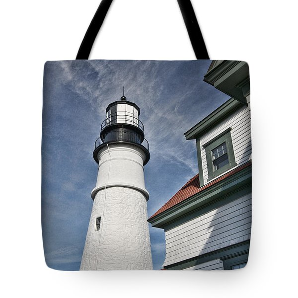 Tote Bag featuring the photograph Portland Headlight Partial by Kim Wilson