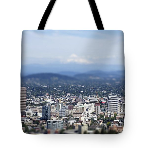 Portland In Perspective Tote Bag