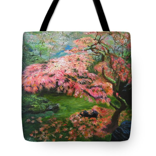Portland Japanese Maple Tote Bag