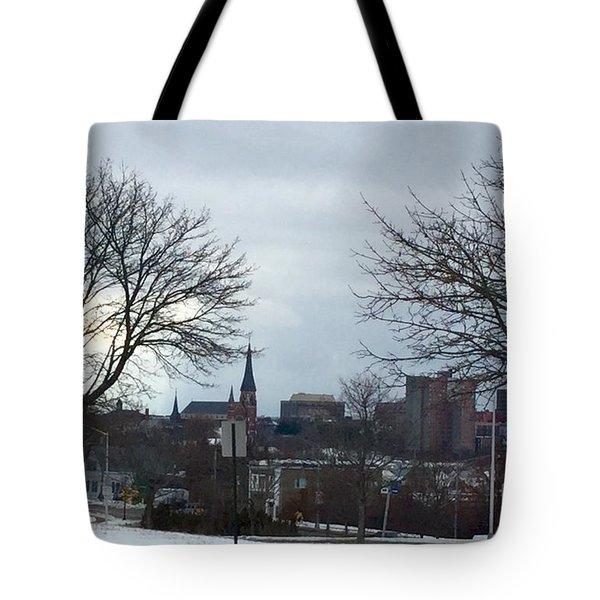 Portland, Maine, My City By The Bay Tote Bag by Patricia E Sundik