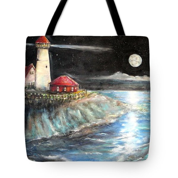 Portland Maine Twilight Tote Bag