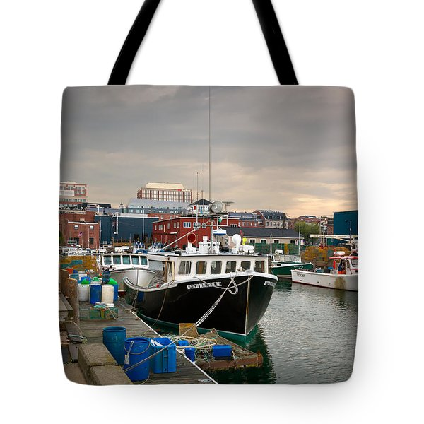 Portland Maine Waterfront Tote Bag
