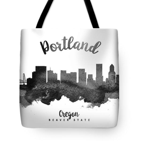 Portland Oregon Skyline 18 Tote Bag