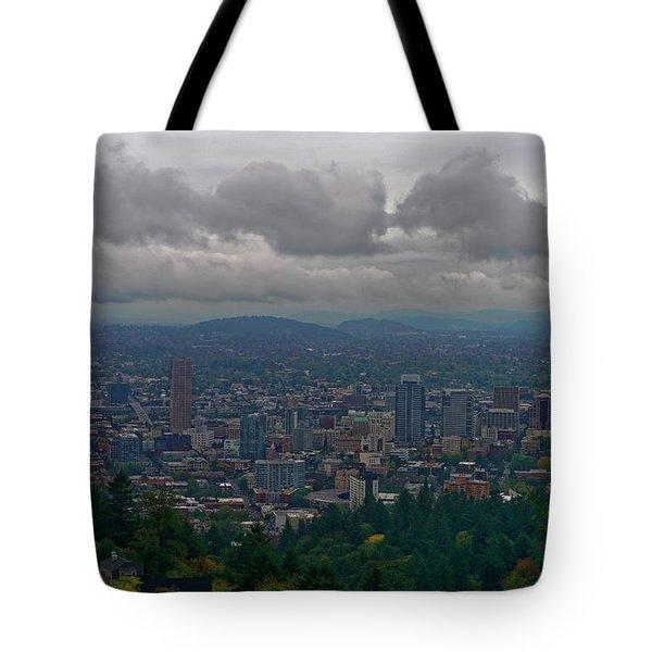 Portland Overlook Tote Bag by Jonathan Davison