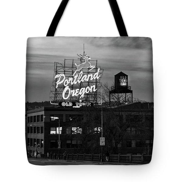 Portland Signs Tote Bag