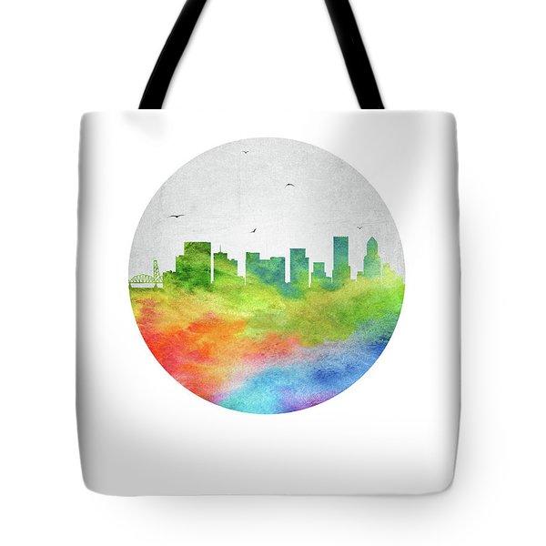 Portland Skyline Usorpo20 Tote Bag