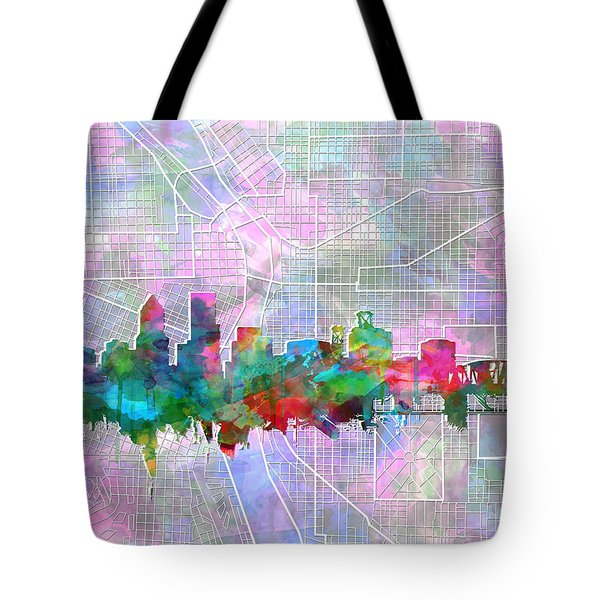 Portland Skyline Watercolor 6 Tote Bag