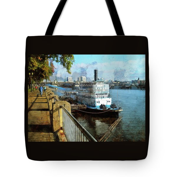 Portland Sunday Walk Tote Bag