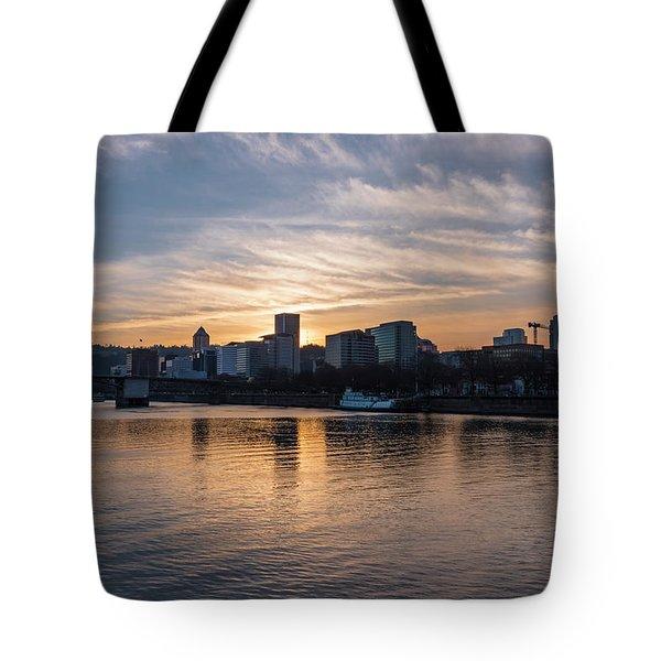 Portland Sunset Tote Bag
