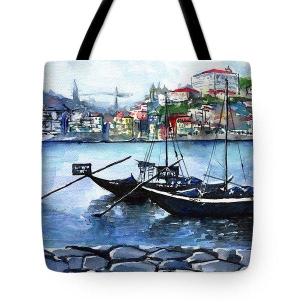 Porto Rabelo Boats Tote Bag
