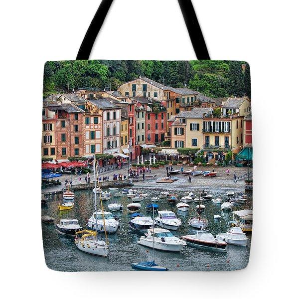 Tote Bag featuring the photograph Portofino Harbor by Kim Wilson