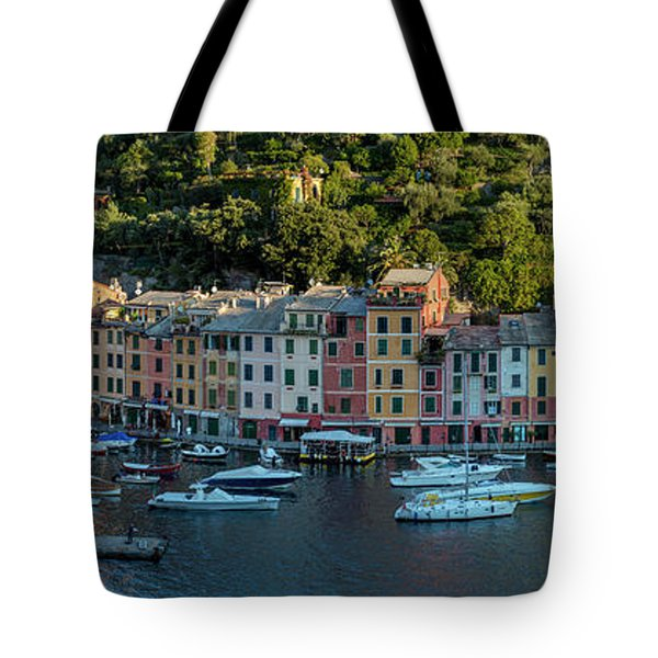 Tote Bag featuring the photograph Portofino Morning Panoramic II by Brian Jannsen