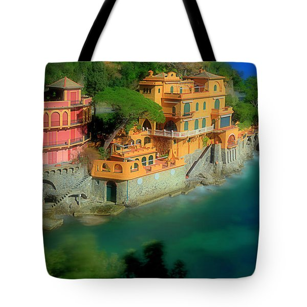 Portofino Park Bay Tote Bag