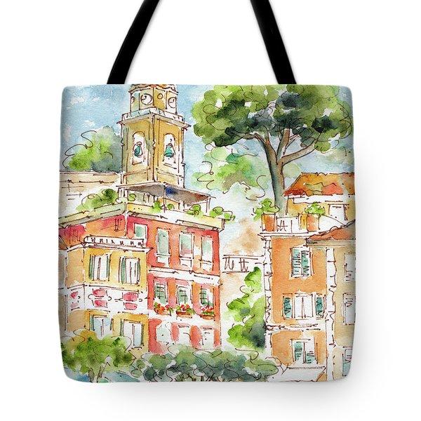 Portofino Piazetta Tote Bag by Pat Katz