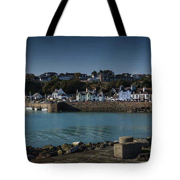 Portpatrick Harbour And Lighthouse Tote Bag