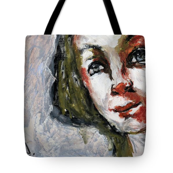 Tote Bag featuring the painting Portrait - 17nov2017 by Jim Vance