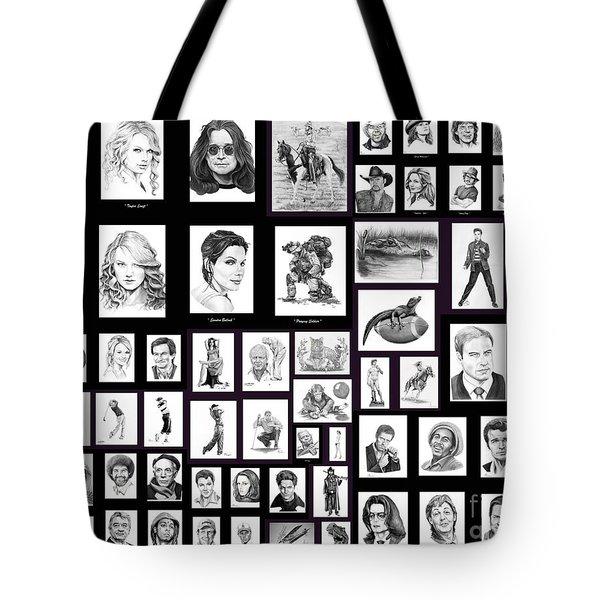 Portrait And Illustrations On Fine Art America Tote Bag by Murphy Elliott