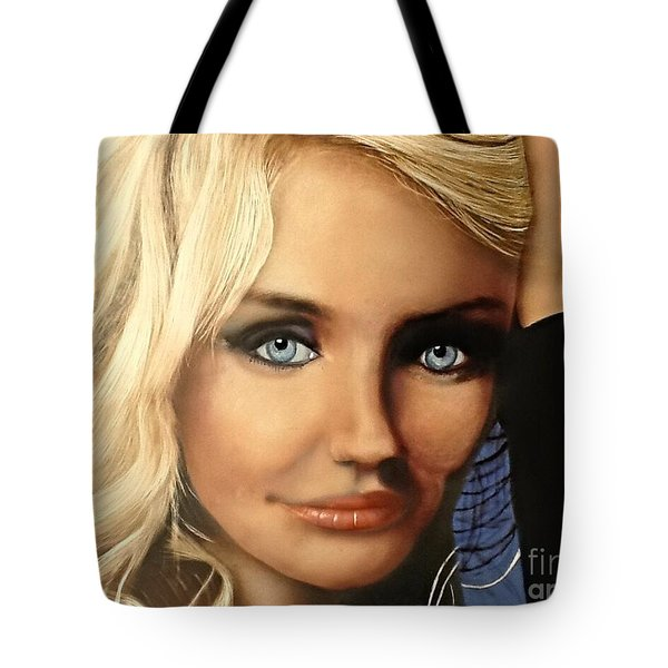 Cameron Diaz Portrait  Tote Bag