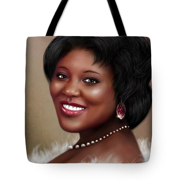 Tote Bag featuring the digital art Portrait Commision  by Dedric Artlove W