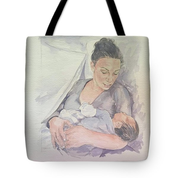 Tote Bag featuring the painting Portrait by Gloria Turner