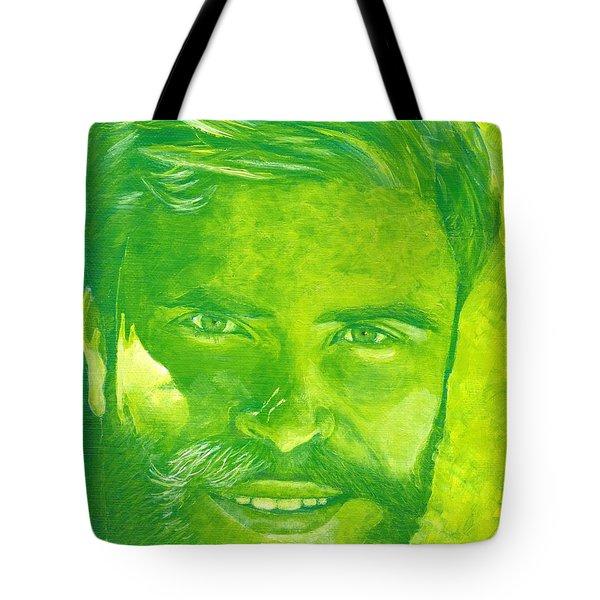 Portrait In Green Tote Bag