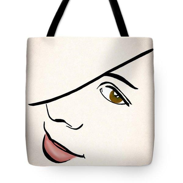 Portrait In Line Tote Bag by Francesa Miller