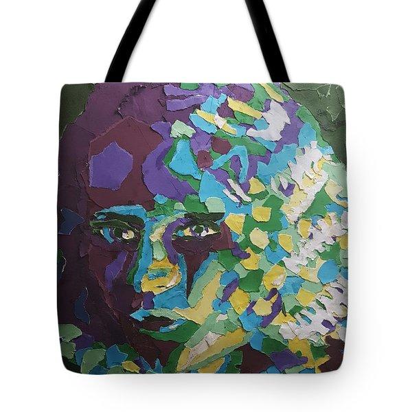 Portrait In Paper Tote Bag