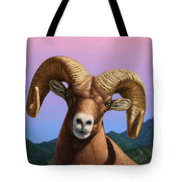 Portrait Of A Bighorn Tote Bag