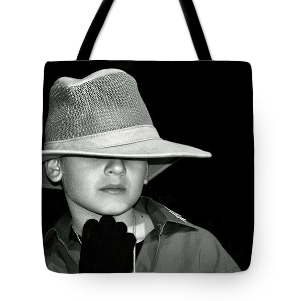 Portrait Of A Boy With A Hat Tote Bag