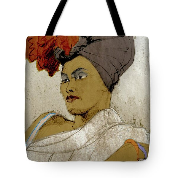 Portrait Of A Caribbean Beauty Tote Bag
