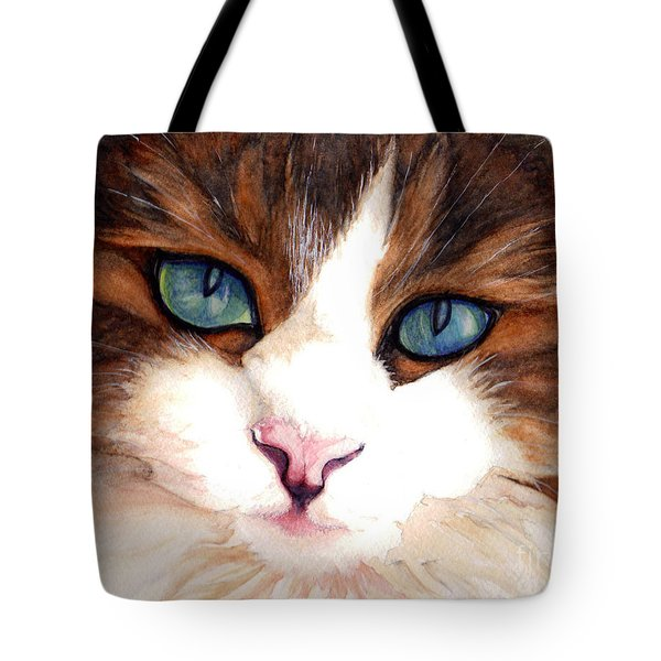 Portrait Of A Cat Tote Bag