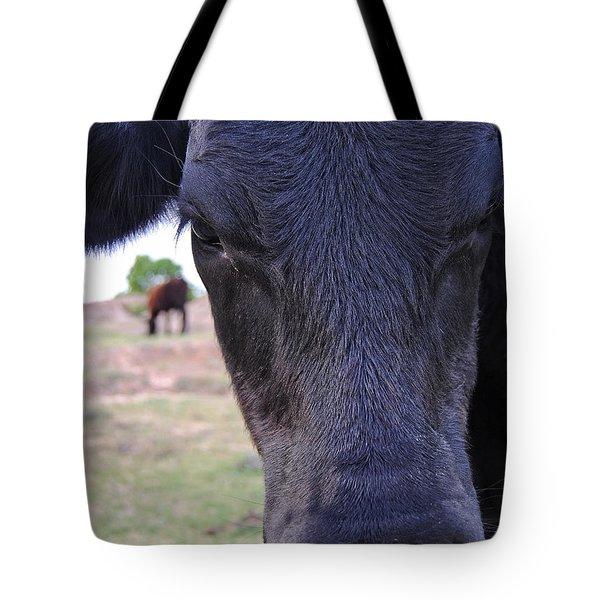Portrait Of A Cow Tote Bag